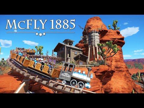 Planet Coaster - Rio Bravo - McFly 1885 - (Mine train roller coaster POV) western