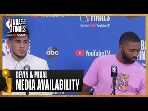 Devin Booker & Mikal Bridges Game 2 Postgame Press Conference | #NBAFinals