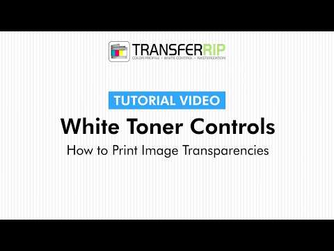 TransferRIP Part 6 #6   Print Transparent Areas- White Channel Controls