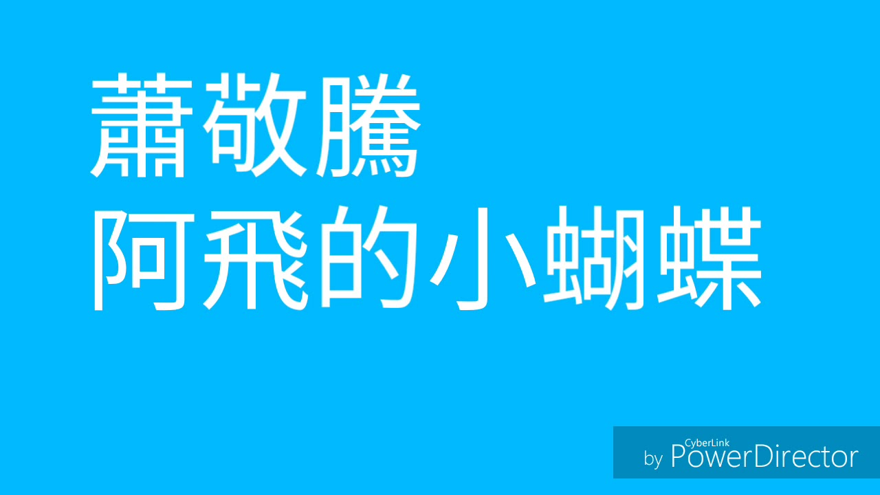 蕭敬騰 阿飛的小蝴蝶 歌詞版 - YouTube