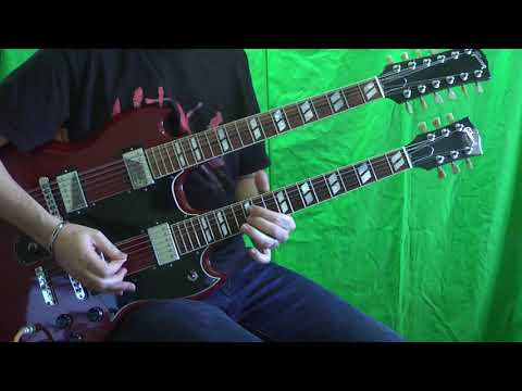 Guns N' Roses -  Knockin' On Heaven's Door Live Paris 92 (guitar Cover) With Gibson EDS 1275!!