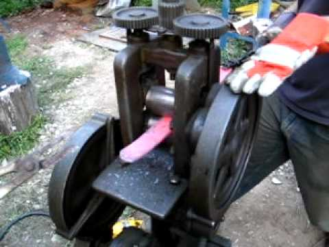 Making damascus with a rolling mill part 2