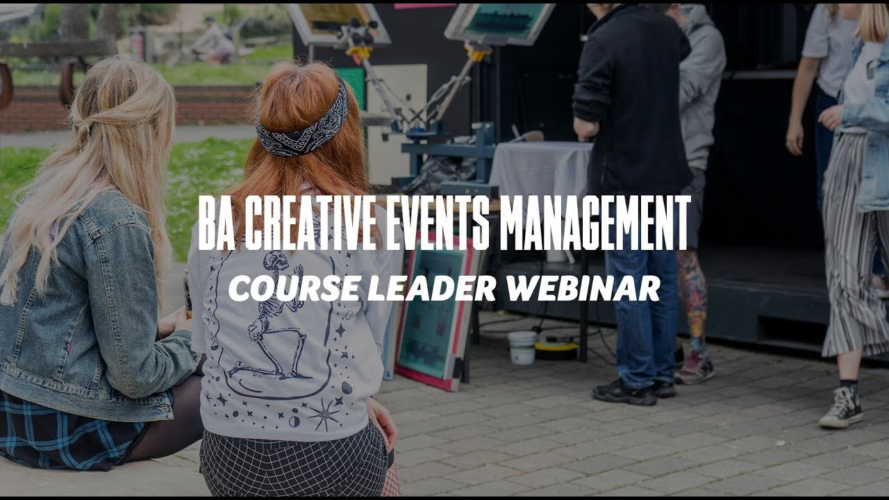 Course Webinar - BA Creative Events Management