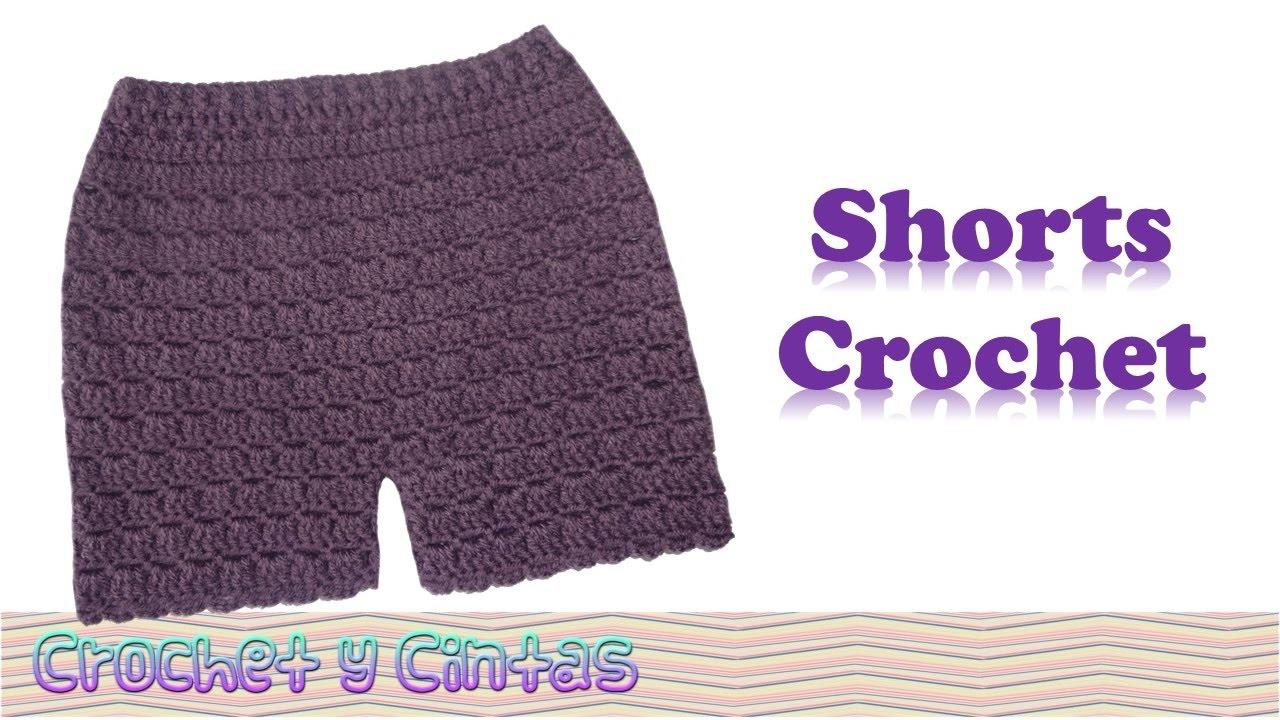 Pantalón corto – Bermuda – shorts tejidos a crochet - YouTube