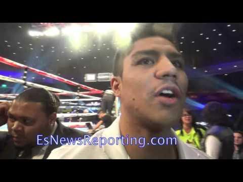 Jessie Vargas after invading Tim Bradley's interview - EsNews Boxing
