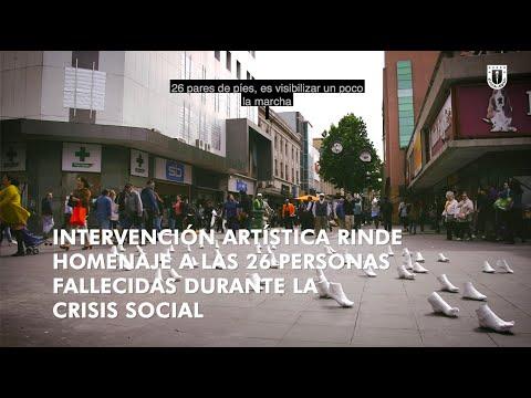 #ComunidadUdeC: Intervención artística en homenaje a fallecidos durante crisis social