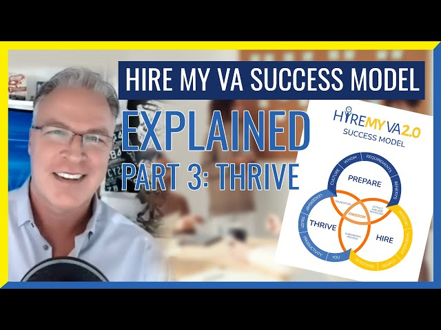 """HireMyVA Podcast 85- Can you Explain the HireMyVA """"Success Model""""? (Part 3 - THRIVE)"""
