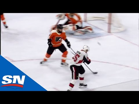 Matt Duchene Bats The Puck Out Of Mid-Air From The Face-Off Circle To Put Senators In Front