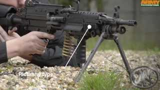 FN Minimi Mk3 FN Herstal 5.56mm 7.62mm light machine gun Milipol 2013 internal state security exhibi
