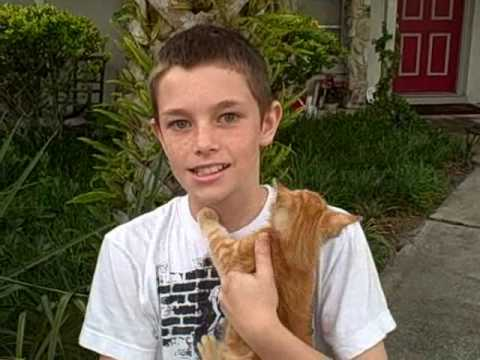 11 year old boy saves kitten's life