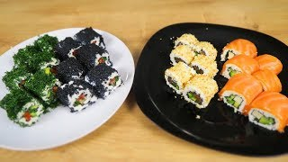 Творожные Суши РОЛЛЫ 🍱 4 РЕЦЕПТА 🍱 в домашних условиях! Закуска на Праздничный Стол!