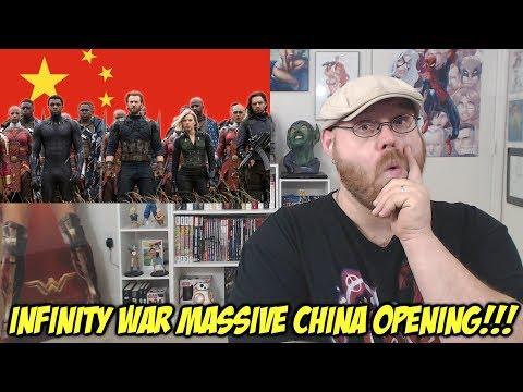 Avengers Infinity War Massive China Opening!!!