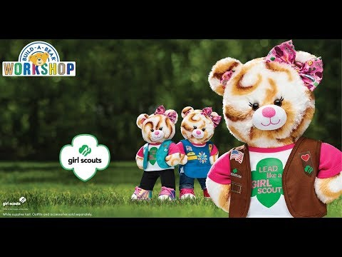 421b7fd3ac1 Meet our NEW Girl Scout S mores® Campout Bear! Build-A-Bear