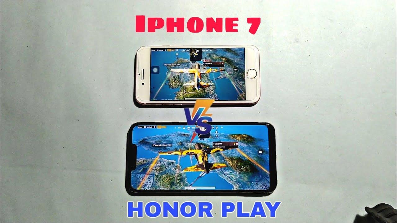 Iphone 7 vs Honor Play(6 GB) Pubg High Graphics Test