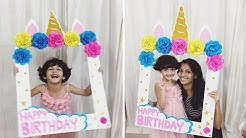 Easy Selfie Photo Frame  for Birthday Party | Unicorn Selfie Frame for Birthday | Selfie Photo Frame