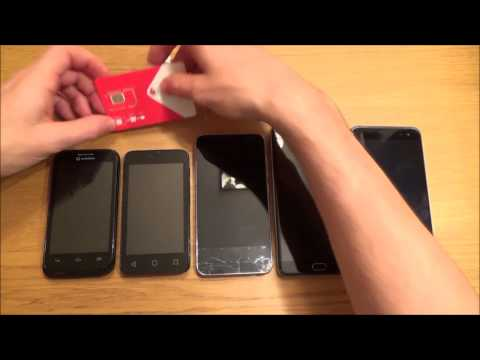 How to INSERT / REMOVE a SIM card in various MOBILE  CELL PHONES