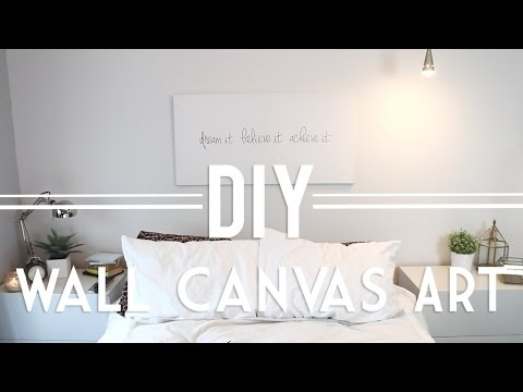 DIY | Wall Canvas Art (Quote & Abstract)