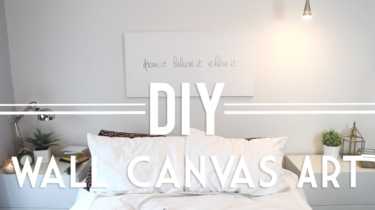 Diy Wall Canvas Art Quote Abstract Youtube