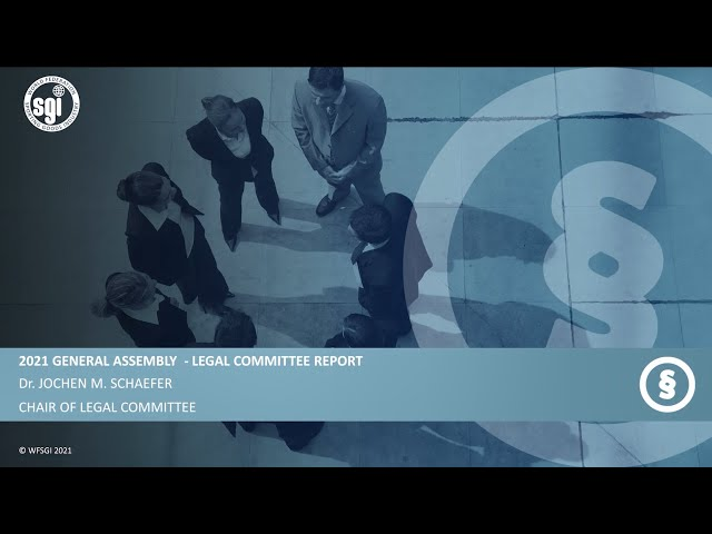 WFSGI General Assembly 2021 - Legal Committee Report 2020