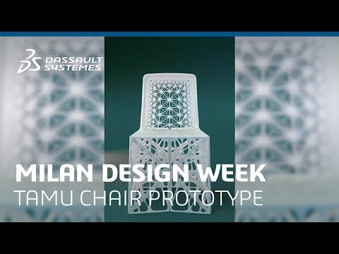 This Ornate 3D-Printed Chair Made Using Generative Design Can Fold Down Flat