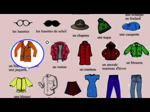 Les vêtements - YouTube 77f1810b66ad
