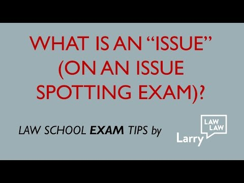 Law School Exam Tips:  What Is An Issue?