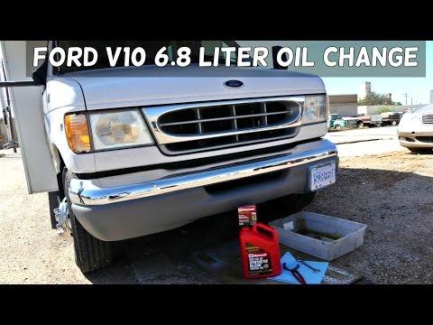FORD v10 6 8 e350 e450 f350 OIL CHANGE - YouTube