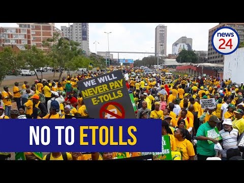 Outa, ANCGP and civil society groups march to union buildings against etolls