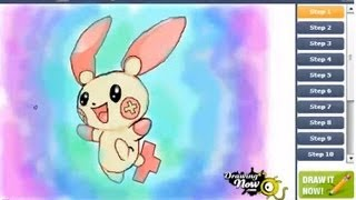 How to draw Plusle from Pokmon