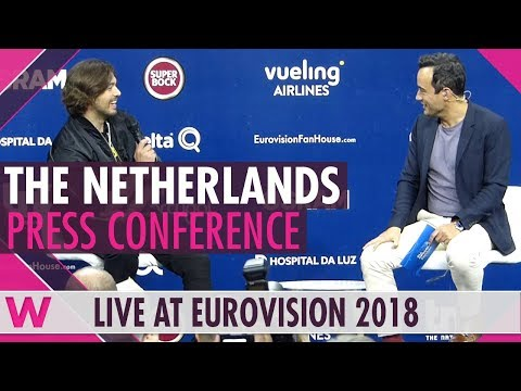 "The Netherlands Press Conference: Waylon ""Outlaw In 'Em"" @ Eurovision 2018 