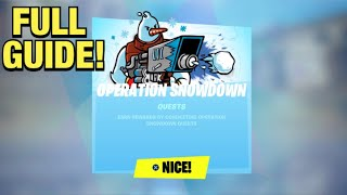 How To COMPLETE ALL OPERATION SNOWDOWN CHALLENGES in Fortnite! (Winterfest 2020)