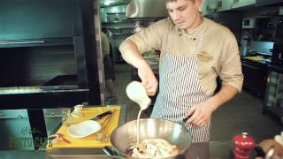 Рецепт Морепродукты в сливочно-шафрановом соусе