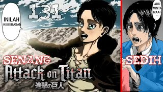 Eren Akhirnya Bebas..!! Masa Depan Tak Bisa Ia Ubah..!! [Review Chapter 131 Attack on Titan]