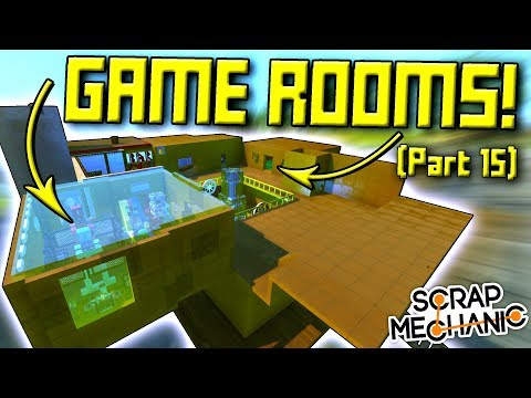 GAME ROOMS and STEAMPUNK WINDOWS! (Suspended Mountain Base Part 15) - Scrap Mechanic Gameplay