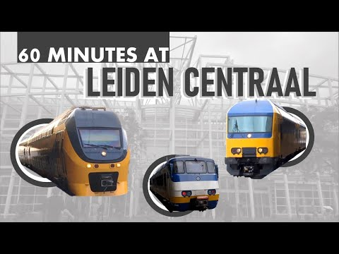 Trains @Leiden Centraal in 1 Hour + Tour of the Station