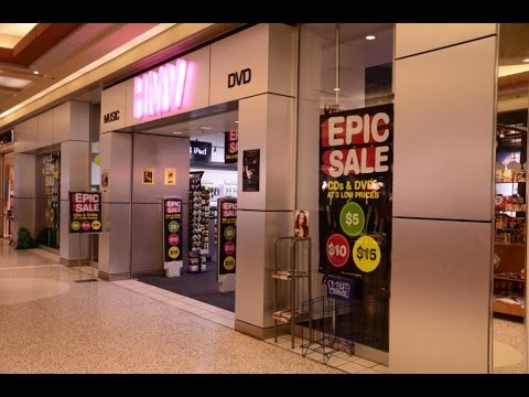 Quick Look inside a HMV Music Store that is closing down in the Avalon Mall