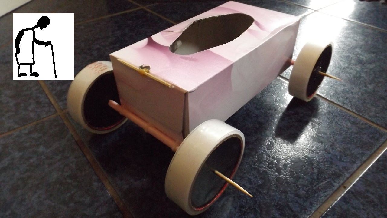 Tissue box rubber band powered car youtube tissue box rubber band powered car malvernweather Image collections