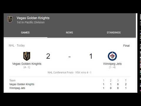 Congratulations, Golden Knights! :)