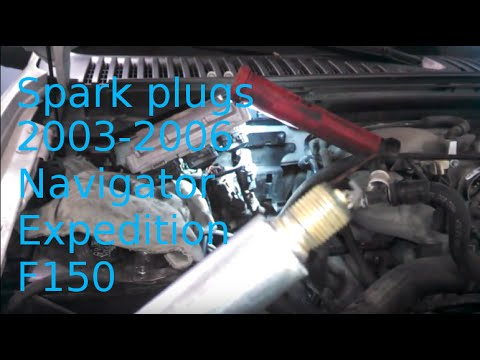 Spark plug replacement 2004 Lincoln Navigator 54L Expedition How to