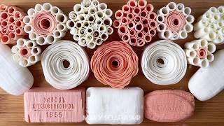 Dry soap cubes/soap roses/asmr soap cutting/relaxing video/сухие кубики и розы на мыле/асмр/релакс