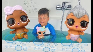 Bath Time with Richard and Lol Doll Ooh La La Little Baby Sister