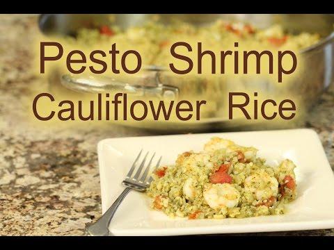 How To Make Grilled Shrimp Over Pesto Cauliflower Rice | Rockin Robin Cooks