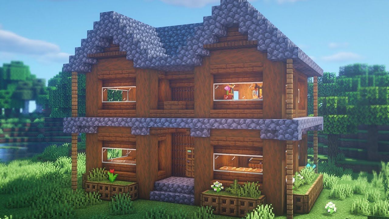 Minecraft: How to Build a Spruce House   Easy Survival ...