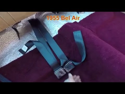 Classic Car Seat Belt Installation,  car safety, Chevrolet Bel Air. Cars  Upholstery tips.