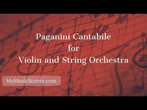 Paganini Cantabile for Violin and String Orchestra