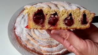 """Пирог """"Улитка""""с черешней(вишней) песочное тесто"""