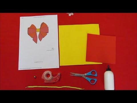 Lavoretti di pasqua campana di carta fai da te youtube for Youtube lavoretti per bambini