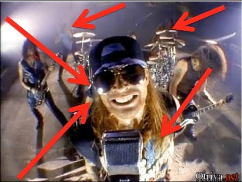 Guns N' Roses: Things You Missed In The  Garden Of Eden Music Video!