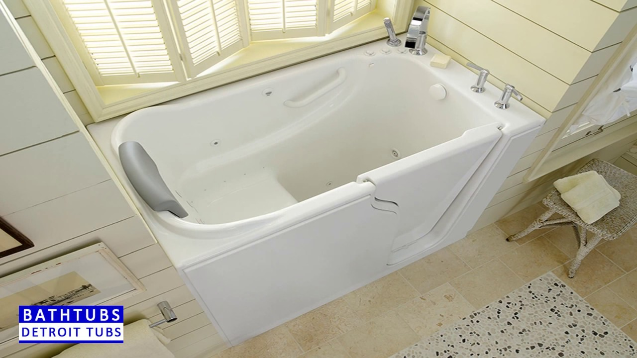 Detroit tubs walk in tubs youtube for Tub liner cost