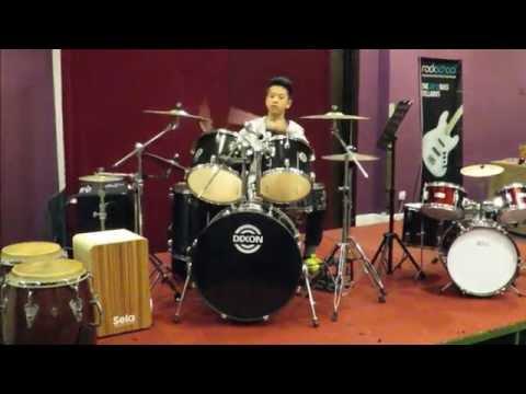 Drummer Tai Tung An.  Drum Cover Senbonzakura.  Drumfest Kota Kinabalu 2016.